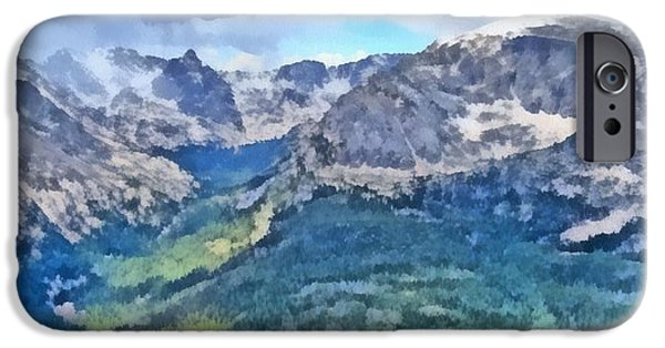 Nature Center Paintings iPhone Cases - Rocky Mountain National Park Painting iPhone Case by Dan Sproul