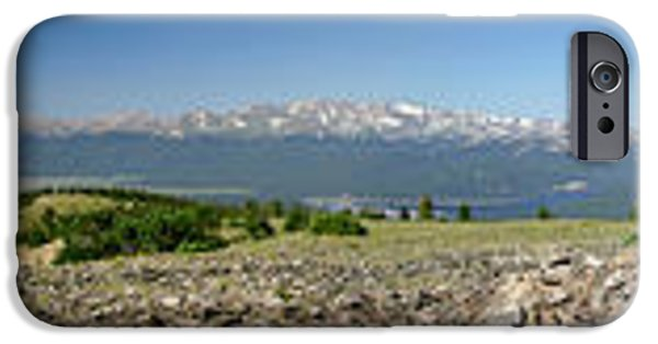 Arkansas iPhone Cases - Rocky Mountain Rooftop Panoramic iPhone Case by Jeremy Rhoades