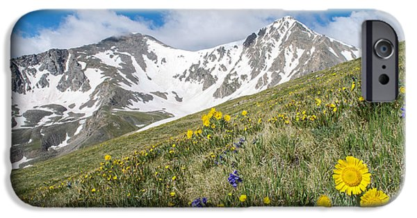 Snowy Day iPhone Cases - Rocky Mountain Springtime iPhone Case by Aaron Spong
