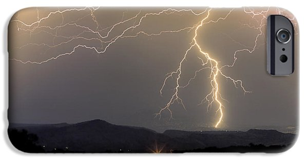 Lightning Images iPhone Cases - Rocky Mountain Thunderstorm  iPhone Case by James BO  Insogna