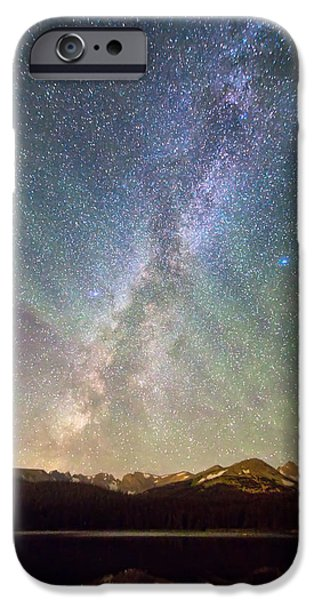 Arapaho iPhone Cases - Rocky Mountains Indian Peaks Milky Way Rising iPhone Case by James BO  Insogna