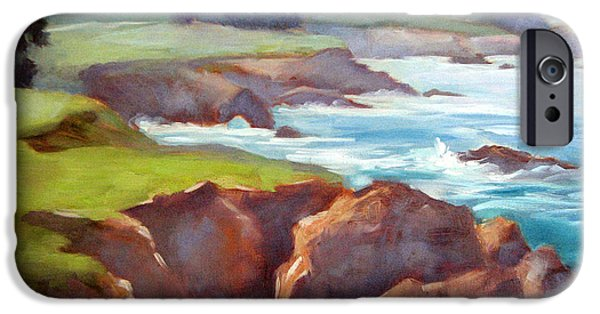 Bixby Bridge iPhone Cases - Rocky Point Afternoon Big Sur iPhone Case by Karin  Leonard
