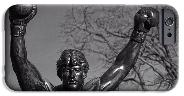 Franklin iPhone Cases - Rocky Statue iPhone Case by Tom Gari Gallery-Three-Photography