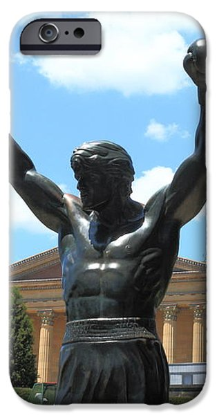 Rocky Statue iPhone Case by Lou Ford