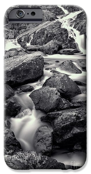 Lichens iPhone Cases - Rocky Stream iPhone Case by Adrian Evans