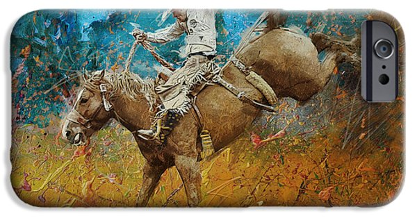 Arlington iPhone Cases - Rodeo 001 iPhone Case by Corporate Art Task Force