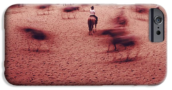 Working Cowboy Photographs iPhone Cases - Rodeo Arena, Fort Worth Stock Show iPhone Case by Panoramic Images