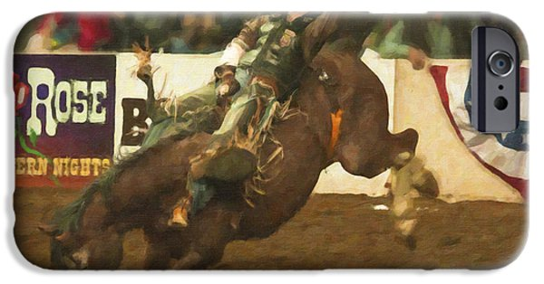 Dirty iPhone Cases - Rodeo Days iPhone Case by Janice Rae Pariza