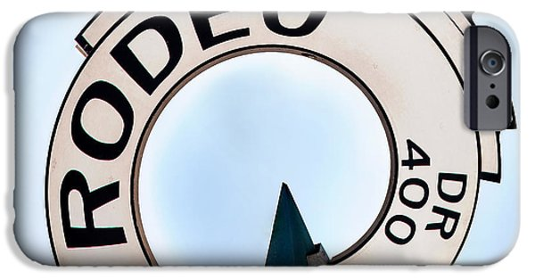 Patriotic Photographs iPhone Cases - Rodeo Drive sign Circagraph iPhone Case by Az Jackson