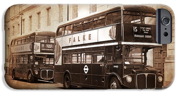 Bus Photographs iPhone Cases - Rodney The Routemaster iPhone Case by Mark Rogan