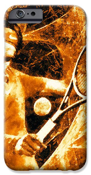 Roger Federer Clay iPhone Case by RochVanh