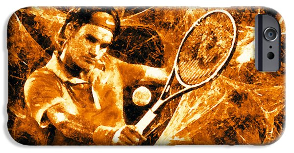 Nike iPhone Cases - Roger Federer Clay iPhone Case by RochVanh