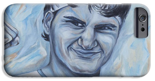 Atp World Tour iPhone Cases - Roger Federer iPhone Case by Nikolett Komeny