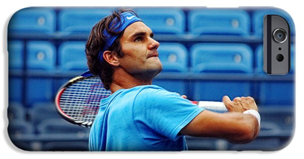 Atp Photographs iPhone Cases - Roger Federer  iPhone Case by Nishanth Gopinathan