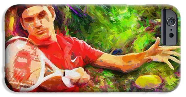 Best Digital Art iPhone Cases - Roger Federer iPhone Case by RochVanh