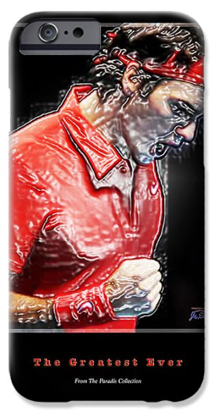 French Open iPhone Cases - Roger Federer  The Greatest Ever iPhone Case by Joe Paradis