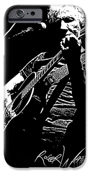 Roger Waters No.01 iPhone Case by Caio Caldas