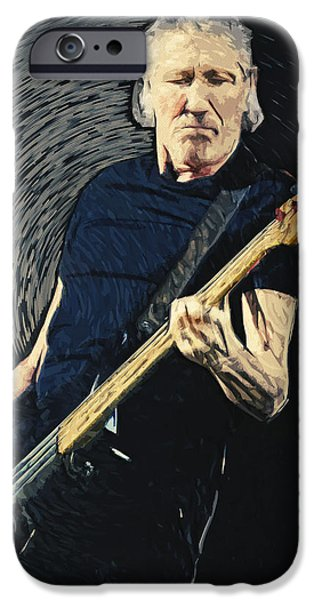 Bassist iPhone Cases - Roger Waters iPhone Case by Taylan Soyturk