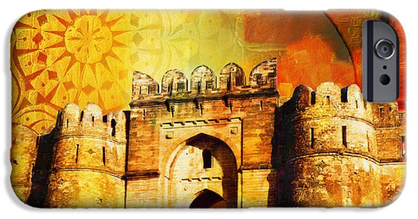 Pakistan iPhone Cases - Rohtas Fort 00 iPhone Case by Catf