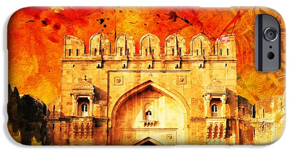 Tomb iPhone Cases - Rohtas Fort 01 iPhone Case by Catf