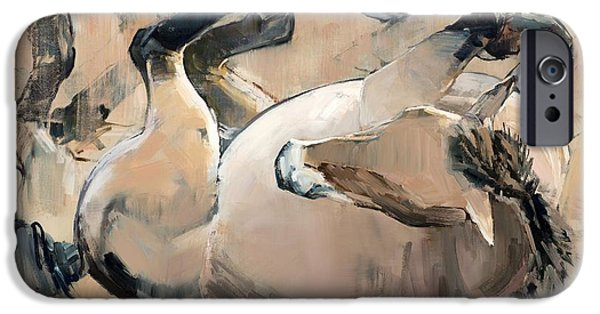 Horse iPhone Cases - Roll iPhone Case by Mark Adlington