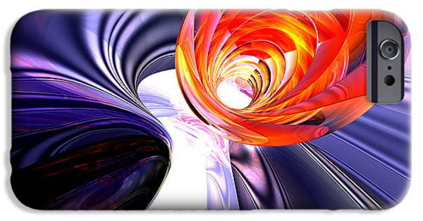 Stellar iPhone Cases - Rolled Creases Abstract iPhone Case by Alexander Butler