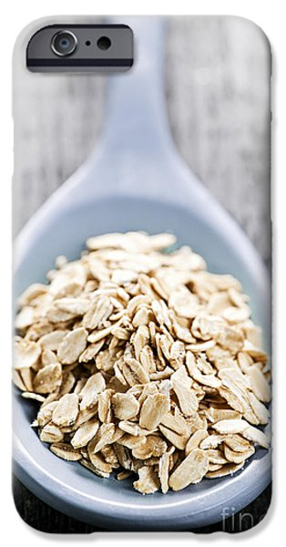Oatmeal iPhone Cases - Rolled oats iPhone Case by Elena Elisseeva