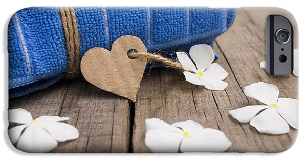 Enjoying iPhone Cases - Rolled up towel and paper heart iPhone Case by Aged Pixel