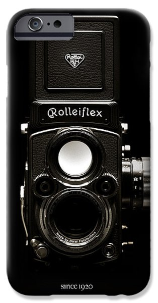 Reflex iPhone Cases - Rolleiflex TLR iPhone Case by Dave Bowman