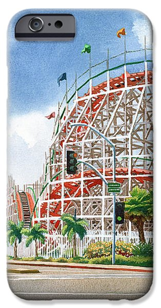 Roller Coaster Mission Beach iPhone Case by Mary Helmreich