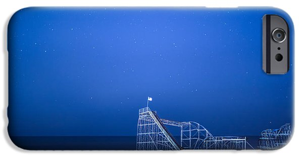 Jetstar Photographs iPhone Cases - Roller Coaster Stars iPhone Case by Michael Ver Sprill
