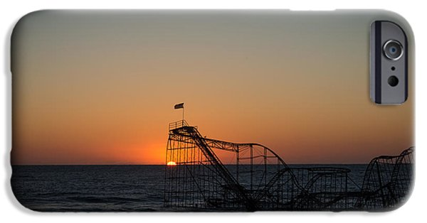 Jet Star iPhone Cases - Roller Coaster Sunrise 2 iPhone Case by Michael Ver Sprill