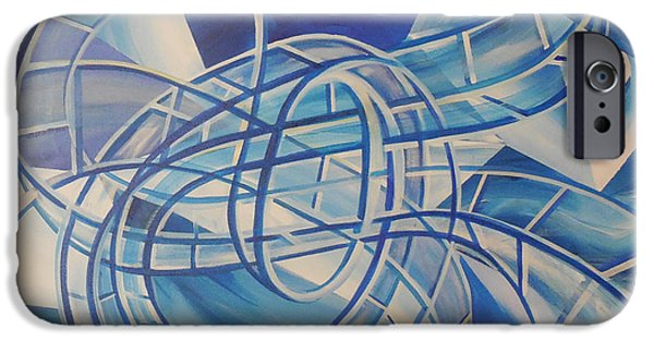 Mobius Strip iPhone Cases - RollerCoaster Water iPhone Case by Toblerusse