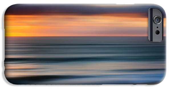 Abstract Seascape Photographs iPhone Cases - Rollers iPhone Case by Bill  Wakeley