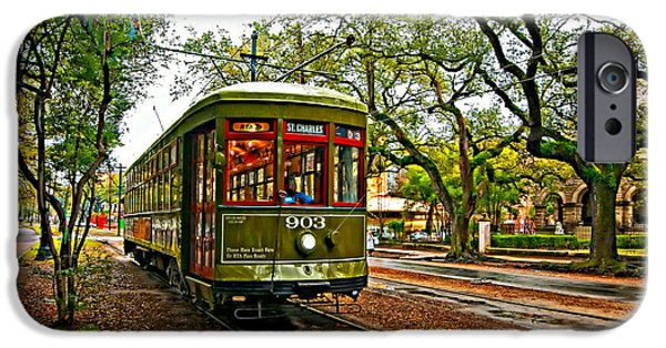 Rainy Day iPhone Cases - Rollin Thru New Orleans painted iPhone Case by Steve Harrington