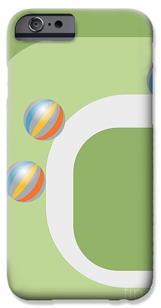 Multimedia iPhone Cases - Rolling Balls iPhone Case by Tina M Wenger