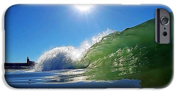 Santa Cruz Surfing iPhone Cases - Rolling Glass iPhone Case by Paul Topp