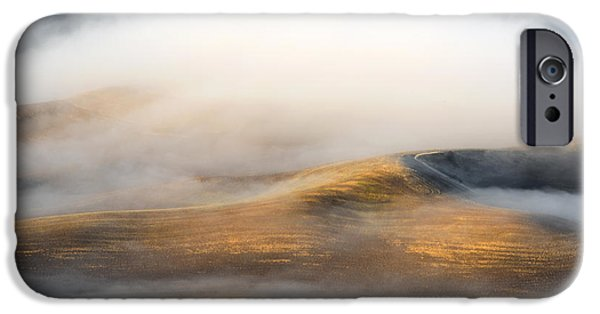 Fog Mist iPhone Cases - Rolling Gold iPhone Case by Mike  Dawson