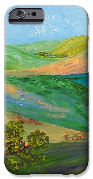 Mounds iPhone Cases - Rolling Hills iPhone Case by Eloise Schneider