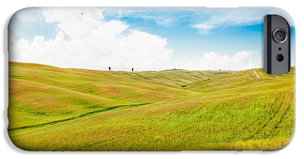 Chianti Hills iPhone Cases - Rolling hills in Tuscany iPhone Case by JR Photography