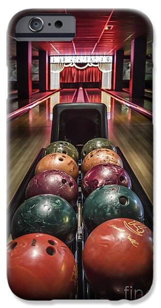 Bowling iPhone Cases - Rolling Joy iPhone Case by Evelina Kremsdorf