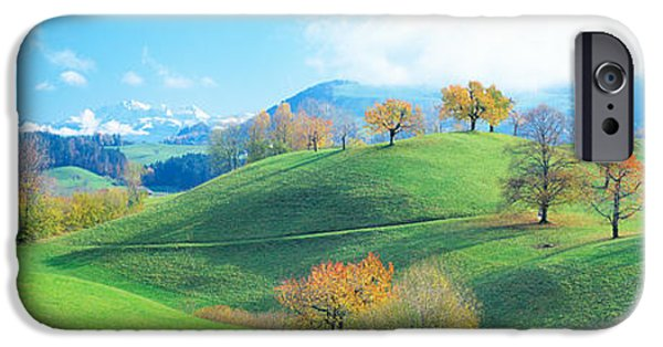 Pathway iPhone Cases - Rolling Landscape, Zug, Switzerland iPhone Case by Panoramic Images
