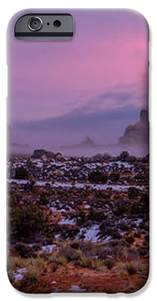 Rolling Mist Through Arches iPhone Case by Chad Dutson