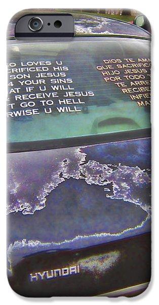 ROLLING MULTILINGUAL SCRIPTURE iPhone Case by Daniel Hagerman