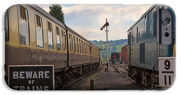 Wark iPhone Cases - Rolling stock of the Gloucestershire Warwickshire Railway iPhone Case by Louise Heusinkveld