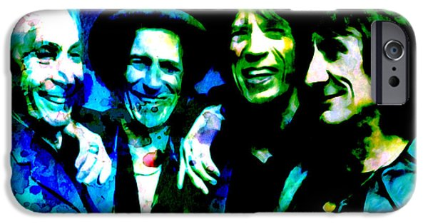 Charlie Watts iPhone Cases - Rolling Stones iPhone Case by Brian Reaves