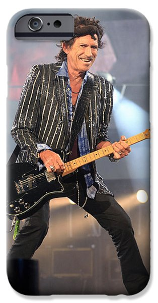 Keith Richards iPhone Cases - Rolling Stones Concert 4 iPhone Case by Rafa Rivas