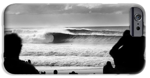 Surf Silhouette iPhone Cases - Rolling Thick iPhone Case by Sean Davey