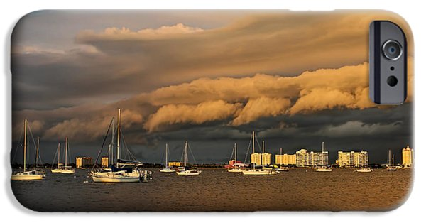 Sailboats iPhone Cases - Rolling Thunder iPhone Case by HH Photography of Florida