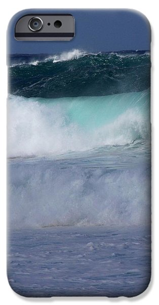 Abstract Seascape iPhone Cases - Rolling Thunder iPhone Case by Karen Wiles